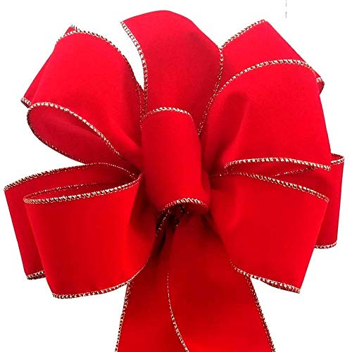 12 Red Velvet Ribbon Bows Présent Emballage Stocking Filler Cadeaux de Noël