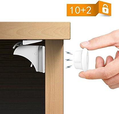 Screws 10 x Child Safety Catch Child Lock Cupboard Door Drawer Lock Catches