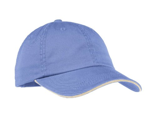 - Port Authority Signature Ladies Sandwich Bill Cap with Striped Closure. LC830 - Blue Iris/Stone_OSFA