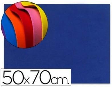 Liderpapel Goma eva 50x70cm 60g//m2 espesor 1.5mm azul 10 unidades