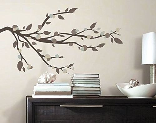 wall decal tree branch brown - 3