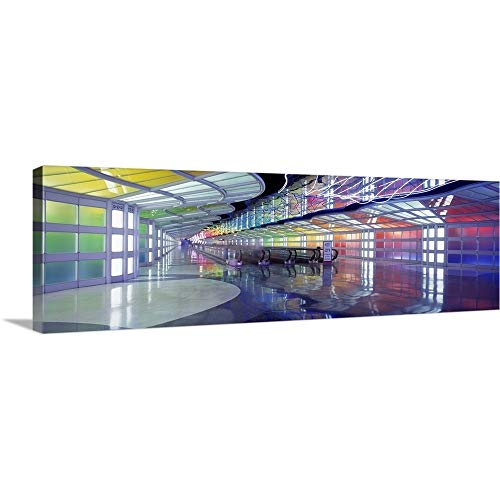 United Airlines Terminal Passageway O'Hare Airport Chicago IL Canvas Wall Art Print, 60