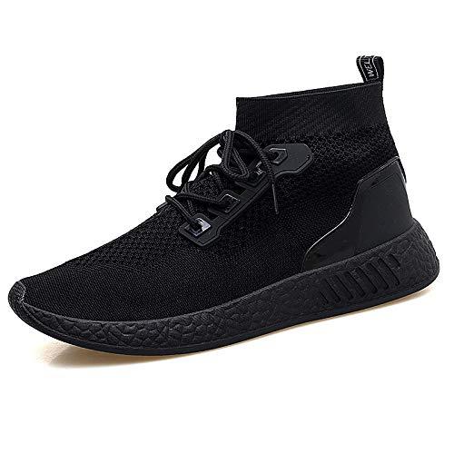 Liuxc Turnschuhe Atmungsaktive Laufschuhe, atmungsaktive Laufschuhe der gewebten Linie, hohe Bequeme Bequeme Schuhe der Art und Weisemänner