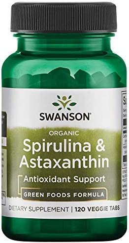 Swanson Organic Spirulina Astaxanthin 120 Veg Tabs