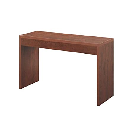 Amazon Com Console Sofa Table Wooden Cherry Color Easy Setup