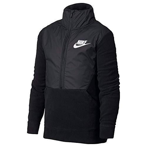 Nike Youth Winterized Half Zip Poly-Fleece Jacket Black/Black-White Size Youth Small
