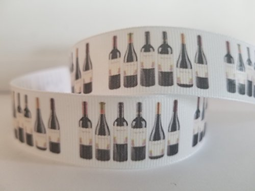 Wine Bottle Grosgrain Ribbon (5 yards)