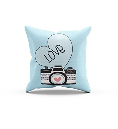 Blue Camera Pillow Cover, Nursery Pillow Cover,Throw Pillow Cover, Kids Throw Pillow Cover, Children's Love Camera - Google Macy's