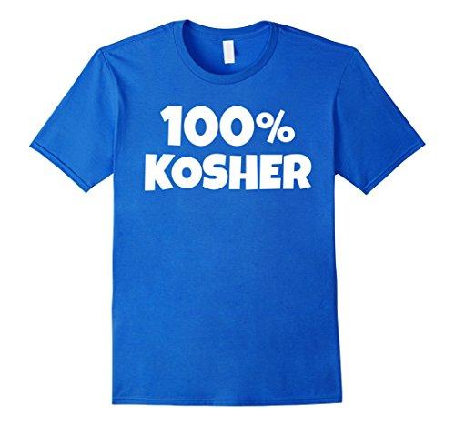 Mens 100% KOSHER Funny Joke Halloween Jewish Hebrew T-shirt 3XL Royal Blue