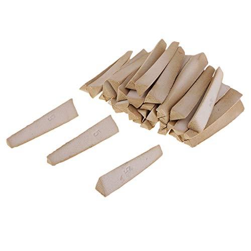 Baosity 30 Pieces PYROMETRIC BAR Cones for Ceramic KILNS - 1230℃ / 1270℃ / 1310℃ Precision Tool Firing Accessories - 1230℃ 63x15x10mm