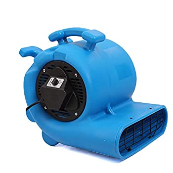 Image of Home and Kitchen MOUNTO 3-Speed 3/4HP 3000CFM Air Mover Floor Carpet Dryers (Blue)