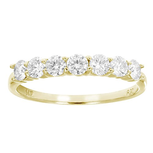 7 Stone Diamond Wedding Band - 8