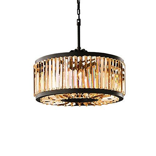 Welles 8 Light Golden Teak Smokey Crystal Round Chandelier Light Fixture in Java Brown - Restoration Revolution 700142-002