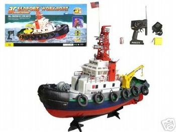 (Remote Control Sea Port Tug Boat RC RTT by E-Toysworld)