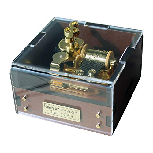 Wind Up Musical Box for Gift, Tune by Merry Go Round of Life, Howl's Moving Castle OST, 3