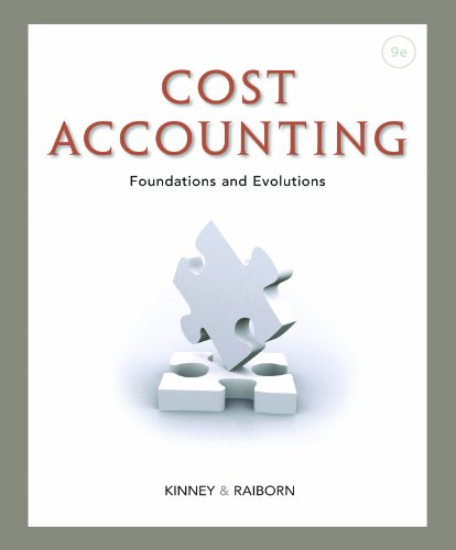 Cost Accounting: Foundations and Evolutions Pdf