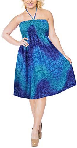 LA Court a513 de Tube Bleu Extensible Bain Longueur Robe fminin Maillot Sangle LEELA Genou EOIrwgxqE
