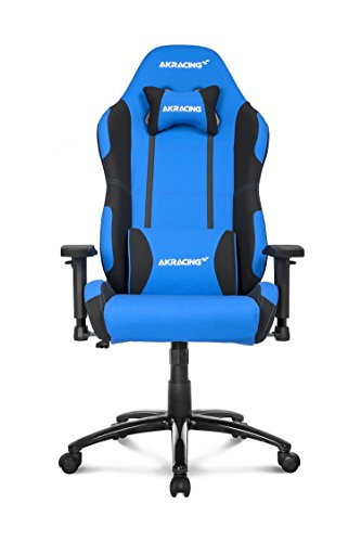 AKRacing Core Series EX Gaming Chair with High Backrest, Recliner, Swivel, Tilt, Rocker & Seat Height Adjustment Mechanisms, 5/10 Warranty – Blue/Black
