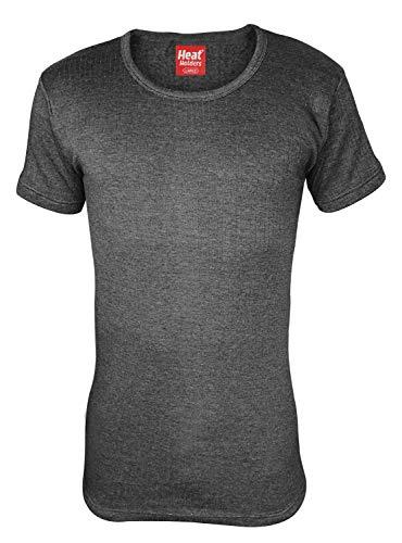 - HEAT HOLDERS - Mens Winter Warm Thermal Underwear Short Sleeve Vest Top Shirt (Large: 41-43
