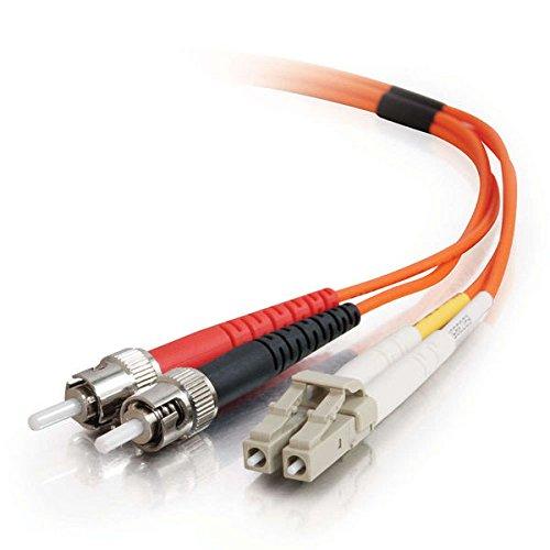 C2G 33164 OM1 Fiber Optic Cable - LC-ST 62.5/125 Duplex Multimode PVC Fiber Cable, Orange (6.6 Feet, 2 Meters)