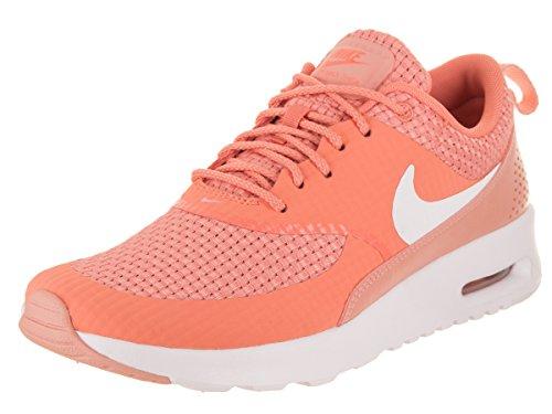 Nike Damen Wmns Air Max Thea Premium Sneaker, Hellgrau Orange (Crimson Bliss/Bianco/Coral Star 605)