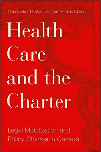 health care and the charter legal mobilization and policy change in canada