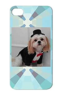 Animals Nature Dogs Dog Tux TPU For Iphone 4 Silver Protective Hard Case