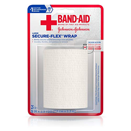 Band-Aid Brand Tough Wrap Self-Adherent Water-Resistant Wound Wrap, 3 In by 2.5 Yd