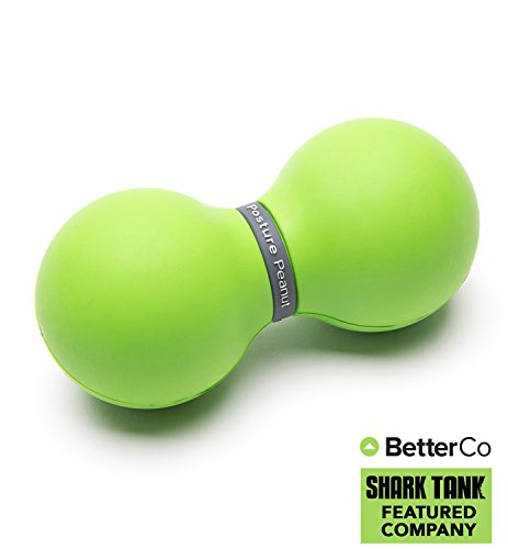 Posture Peanut -- Lacrosse Ball, Rubber Roller Used For Deep Tissue Muscle Self Massage, Release Knots & Tightness, Trigger Point Therapy Aid, Myofascial Release Therapy