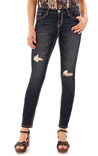 WallFlower Women's Juniors Basic Legendary Skinny Jeans in Dazzler, 9 ()