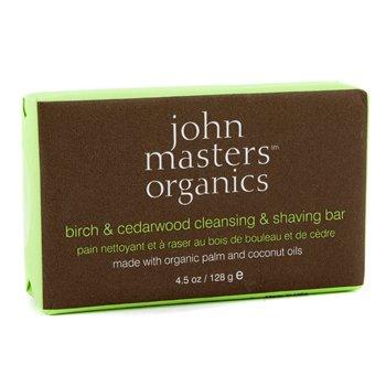 John Masters Organics Birch & Cedarwood Cleansing & Shaving Bar
