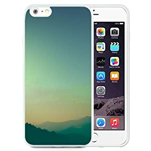 Unique and Attractive TPU Cell Phone Case Design with Mountains Dusk iOS7 iPhone 6 plus 4.7 inch Wallpaper in White