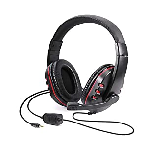 Best Epic Trends 41HcnHaobcL._SS300_ Diswoe Gaming Headset, 3.5mm Wired Over-Head Stereo Headphone with Mic Microphone Volume Control for Sony PS4 PS5 PC…