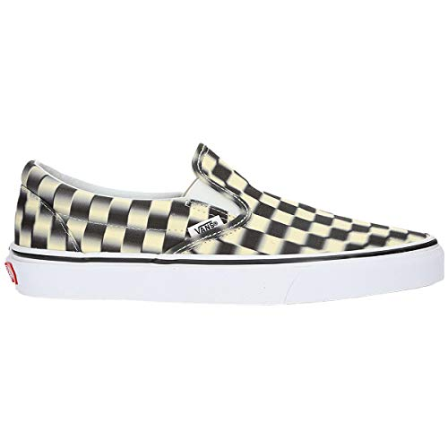 Vans Slip On (Mens 12/Womens 13.5, Black/White -