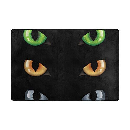 Wild Cat Eyes Large Door mats Area Rug Runner Floor Mat Carpet for Entrance Way Living Room Bedroom Kitchen Office Holiday Doormat Non-Slip Carpet ()