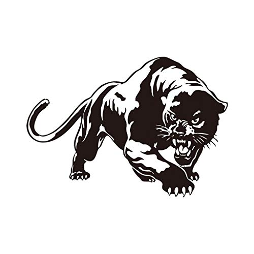 EdC DIY Black Panther Wall Stickers, Removable Wallpaper Lovely Wall Decoration Sweet Cute for Living Room Nursery Kids Bedroom TV Wall Decal Home Art Vinyl Mural Decor