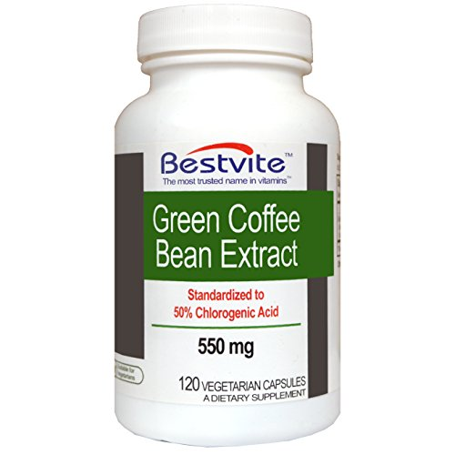 Cheap Green Coffee Bean Extract 550mg with 50% Chlorogenic Acid (120 Vegetarian Capsules)