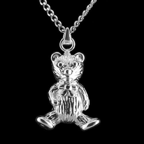 Sterling Silver Teddy Bear Pendant Cremation Jewelry