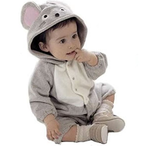 Tkria Baby Boys Girls Halloween Mouse Animal Hoodies Romper Jumpsuit Outerwear (Cute Halloween Costumes Tumblr)