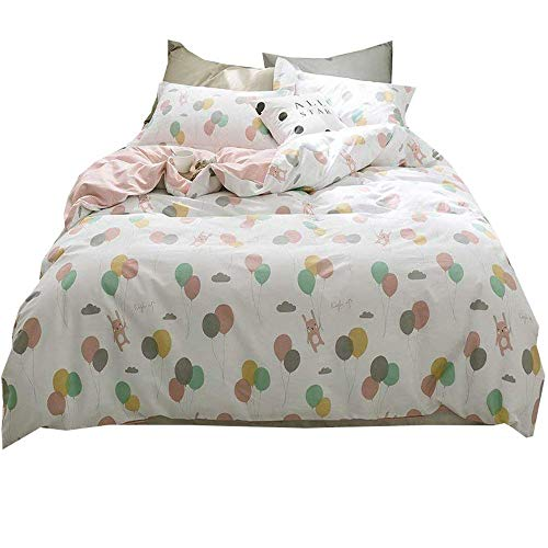 Used, AMWAN Cartoon Balloon Rabbit Duvet Cover Set Queen for sale  Delivered anywhere in USA