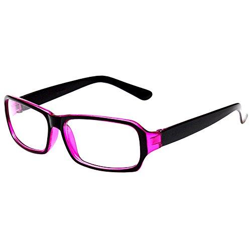 FancyG Vintage Inspired Classic Fashion Rectangle Glasses Frame Eyewear Clear Lens - Black - Glasses Fake Girls