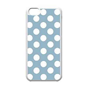 WJHSSB Print Polka dot Pattern PC Hard Case for iPhone 5C