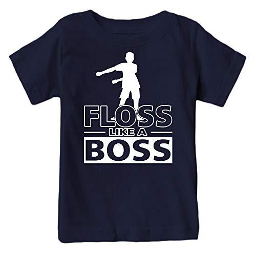 Kids Floss Like a Boss Flossin Dance Youth T Shirt (Navy, Adult ()