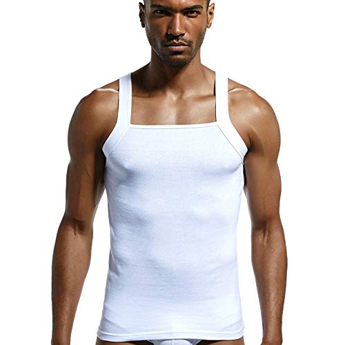 (Liraly Mens Vest Designer Cut Organic Cotton Ribbed Thermal Vests)