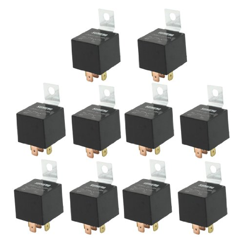 Uxcell DC 24V 40 Amp 1NO+1NC SPDT 5 Pin JD2914 Type Auto Car Relay (10 Piece)