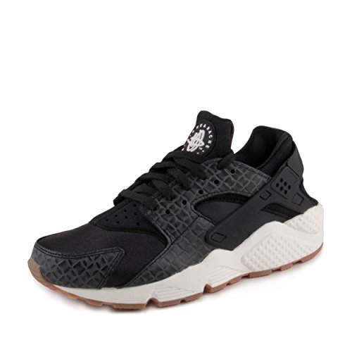 promo code 9d474 ef77a Galleon - Nike Womens Air Huarache Run PRM Trainers 683818 Sneakers Shoes  (US 7, Black Sail Gum Medium Brown 011)