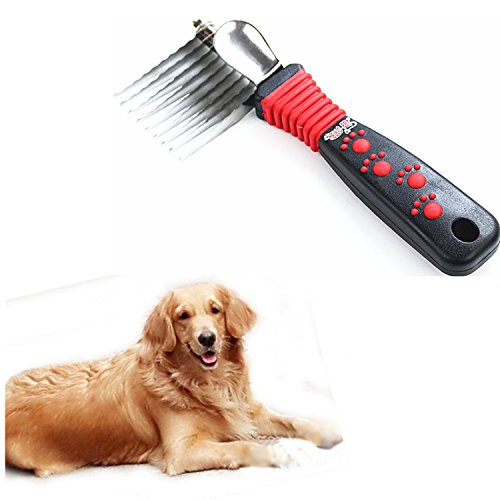OCTCHOCO Pet Comb Knot Opening Comb Grooming Brush Shedding Tool Beauty Comb for Thick Hair Golden Retriever Germanshepherd