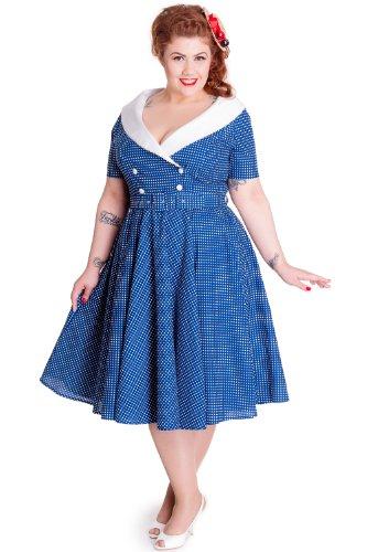 Hell-Bunny-Plus-50s-Vintage-Navy-Blue-Polka-Dot-Hepburn-Wide-V-Neck-Dress