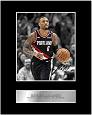 Damian Lillard Print Signed Mounted Photo Display #03 Printed Autograph Picture Print