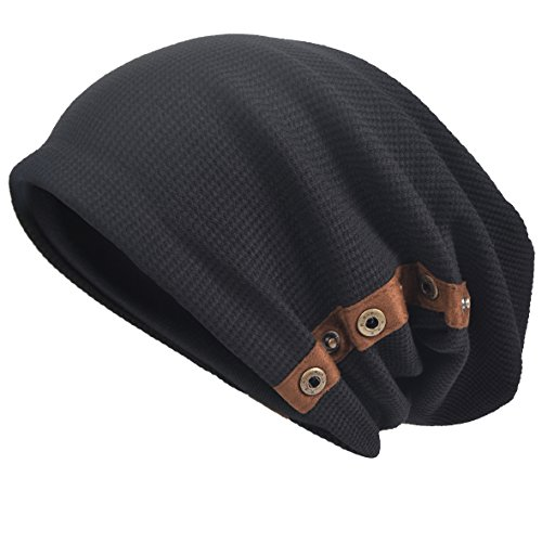 6b625d87578f3 JESSE · RENA Men s Slouch Beanie Skull Cap Lined Oversize Baggy Winter Hat  CFB305 (B020